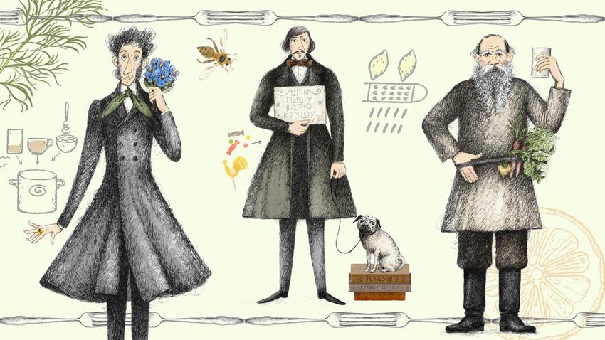 У кухињи с Толстојем, Гогољем и Пушкином: Рецепти чувених руских писаца