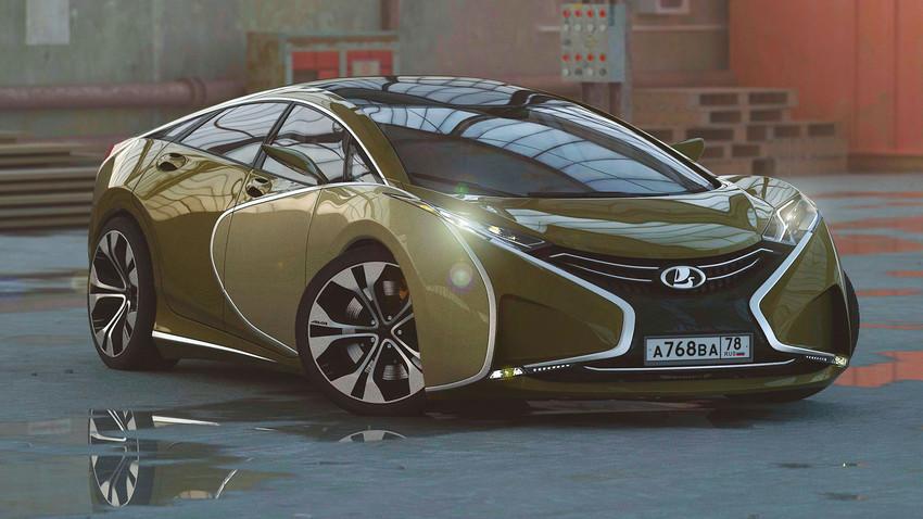 Руски дизајнер представио концептуални супераутомобил Lada Questa
