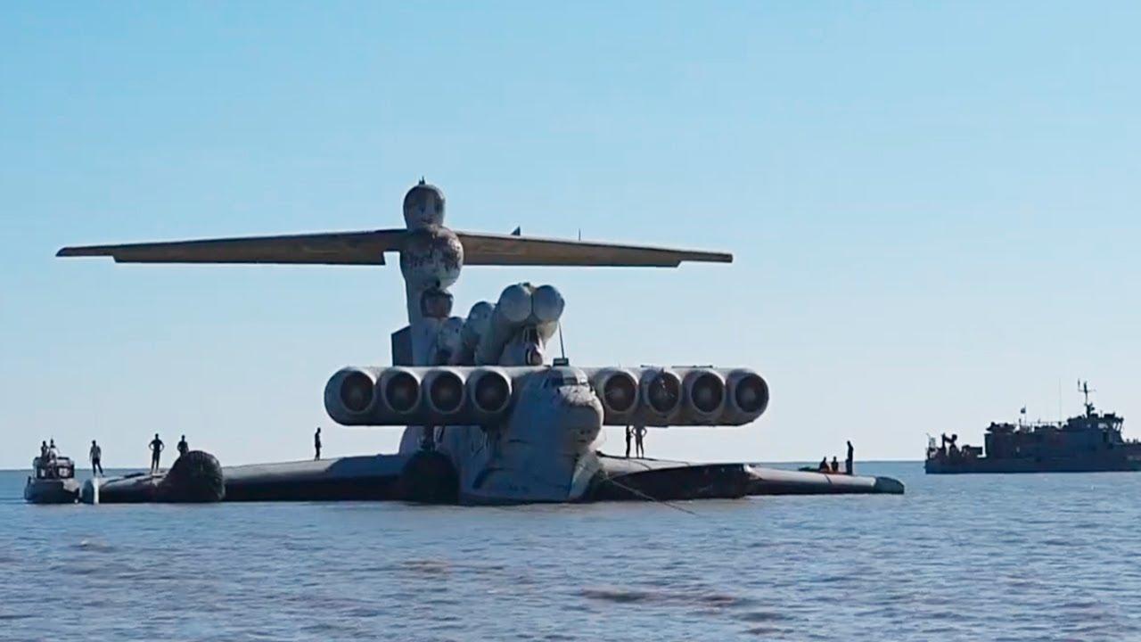 """РТ: Јединствени летећи брод """"Каспијско чудовиште"""" из времена Хладног рата  постаће главна атракција војног парка у Русији"""